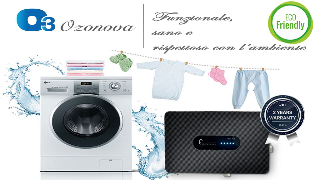 Lavare senza inquinare con l'ozono