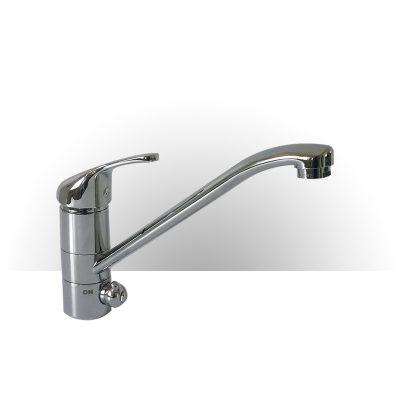 immagine del miscelatore Meccanico Monocomando cromato a 3 vie per Acqua potabile Calda Fredda e Purificata