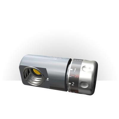 Immagine frontale del riduttore di pressione CO2 per Bombola da 1 Kg attacco ACME. Compatibile per bombole aventi lo stesso attacco
