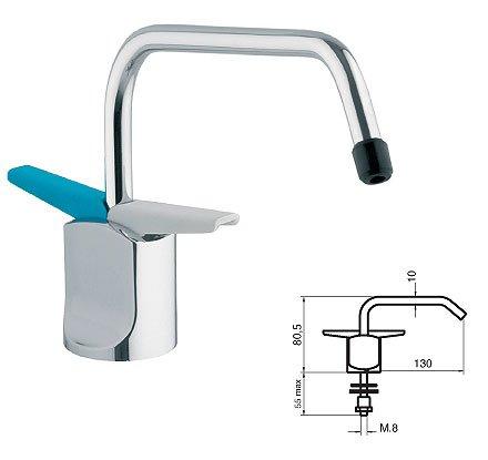 Immagine di un rubinetto a due vie per sotto finestra con misure