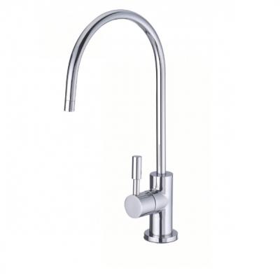 Immagine del rubinettino aggiuntivo a 1 via con levetta in acciaio per acqua purificata