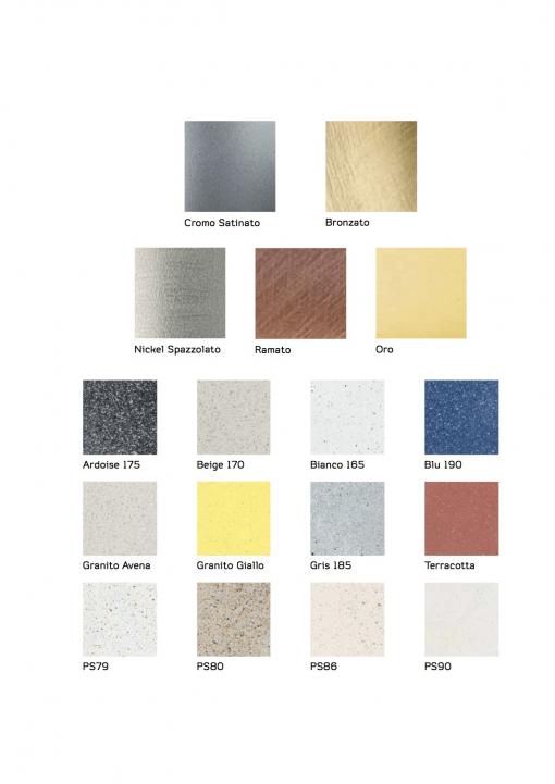 Immagine di cromature e colorazioni miscelatori e rubinetti