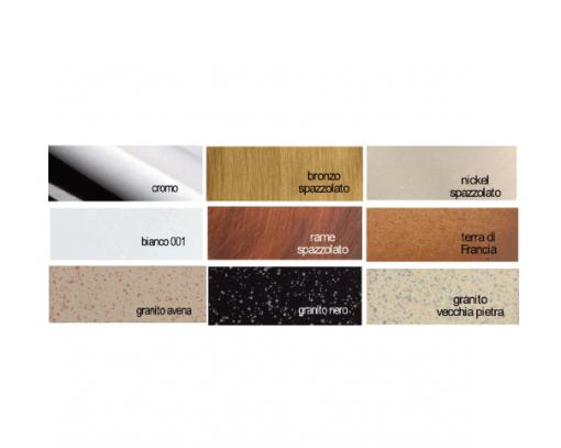Immagine dei colori cromature finiture per miscelatori e rubinetti