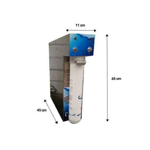 Immagine con misure del depuratore dream water